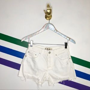 NEW We the Free high waist distressed shorts